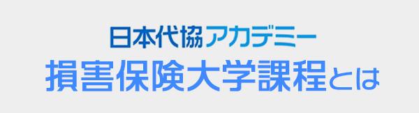 日本代協アカデミー 損害保険大学課程とは
